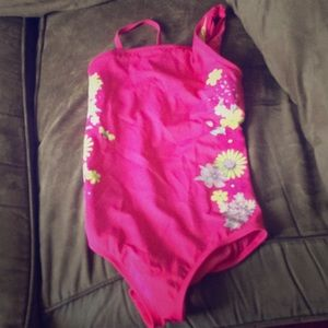 A pink bathing suit